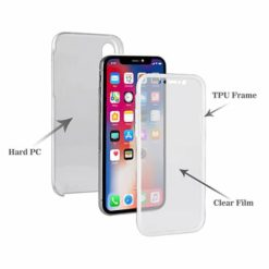 iPhone X / XS 360º PC & TPU Full Case With Protective Screen Cover