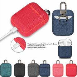 Apple AirPods Canvas Case Protective Cover With Hanger