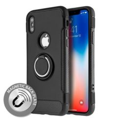 iPhone X / XS Hybrid Dual-Layer Armor Case With Magnetic Ring Stand
