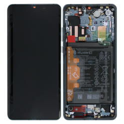 Genuine Huawei P30 Pro LCD Screen & Touch Digitiser With Frame & Battery - 14 Day - Mystic Blue