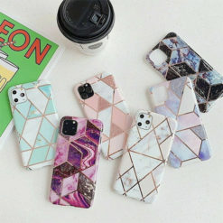 iPhone XR IMD Marble Effect Soft TPU Back Case / Cover