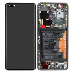 Genuine Huawei P40 Pro LCD Screen & Touch Digitiser With Frame & Battery - Black