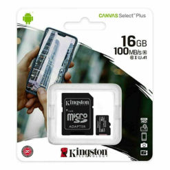 Kingston Micro SD SDHC Memory Card Class 10 16GB 100 MB/S Canvas Select Plus
