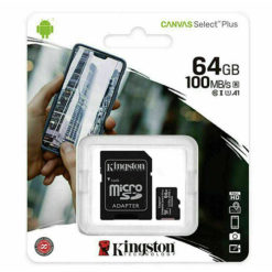 Kingston Micro SD SDHC Memory Card Class 10 64GB 100 MB/S Canvas Select Plus