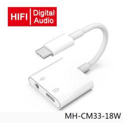 Premium Type-C 2in1 Power & 3.5MM Handsfree Adapter MH-CM33-18W