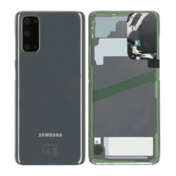 Genuine Samsung G980 Galaxy S20 Rear Back Glass / Battery Cover With Camera Lens - Cosmic Grey