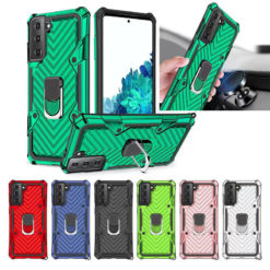 Samsung Galaxy S21 Series Hybrid Dual-Layer Armour Case With Magnetic Ring Stand