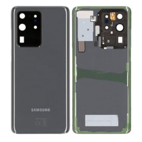 Genuine Samsung G988 Galaxy S20 Ultra Rear Back Glass / Battery Cover With Camera Lens - Cosmic Grey