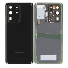 Genuine Samsung G988 Galaxy S20 Ultra Rear Back Glass / Battery Cover With Camera Lens - Cosmic Black