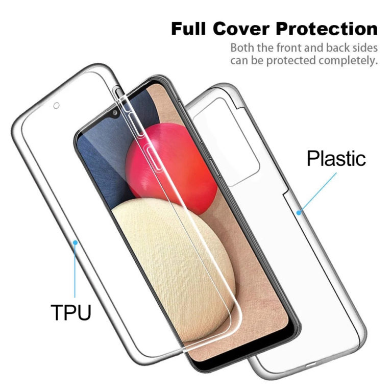 Samsung A125F Galaxy A12 360º PC & TPU Full Case With Protective Screen Cover