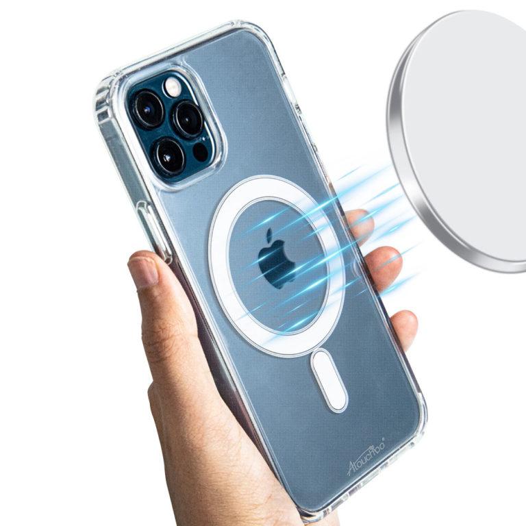 Atouchbo Genuine Anti-Shock Shockproof Magnetic Charging TPU Gel Case - iPhone 12