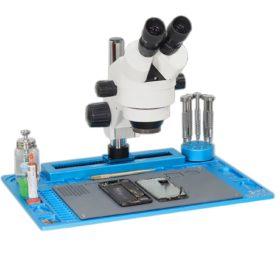 WL Aluminium Maintenance Platform With Sliding Microscope Holder - Black