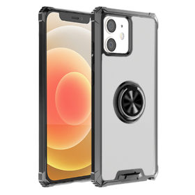 iPhone 12 Series Transparent Hybrid Armour Ring Stand Case