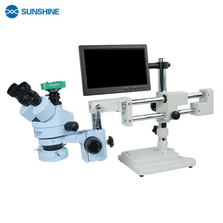 "Sunshine SZM45T-STL2 Trinocular HD Microscope Camera Boom Stand & 10.1"" Screen"