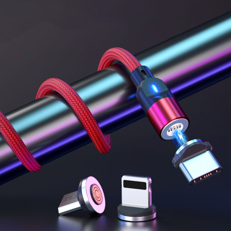 Magnetic 3 in 1 Nylon Braid 3A Charging Data Cable