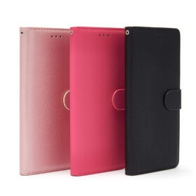 Premium Litchi Style PU Leather Wallet Book Case Cover Card Holder