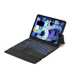 Premium Folio Bluetooth Backlit Keyboard Case With Trackpad / Stand For iPad